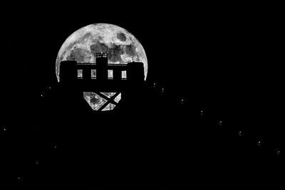 Moonrise Over Bay Bridge Tower