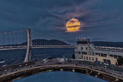 Moonset — Alameda Naval Air Station —Murakami Moon