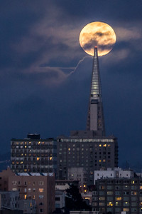 Moonrise over Transamerica Pyramid  Frederic Larson has great meet ups to show you where to be and when to be there  http://www.meetup.com/northbayphotography/