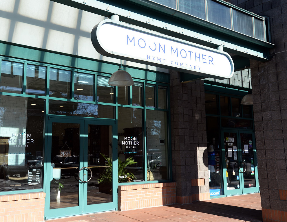 . BOULDER, CO - January 3, 2019: Moon Mother Hemp Company, is a CBD boutique store in Boulder.  (Photo by Cliff Grassmick/Staff Photographer)