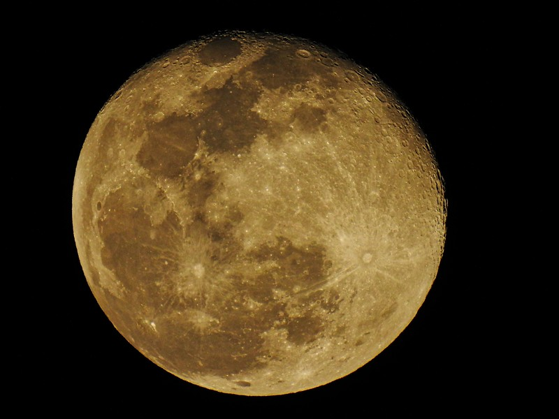 Just had to grab the camera tonight as the clouds broke enough to see the full moon. Here I was able to get a lot of great details of a full moon. That doesn't always happen on other full moon pictures I've took.
