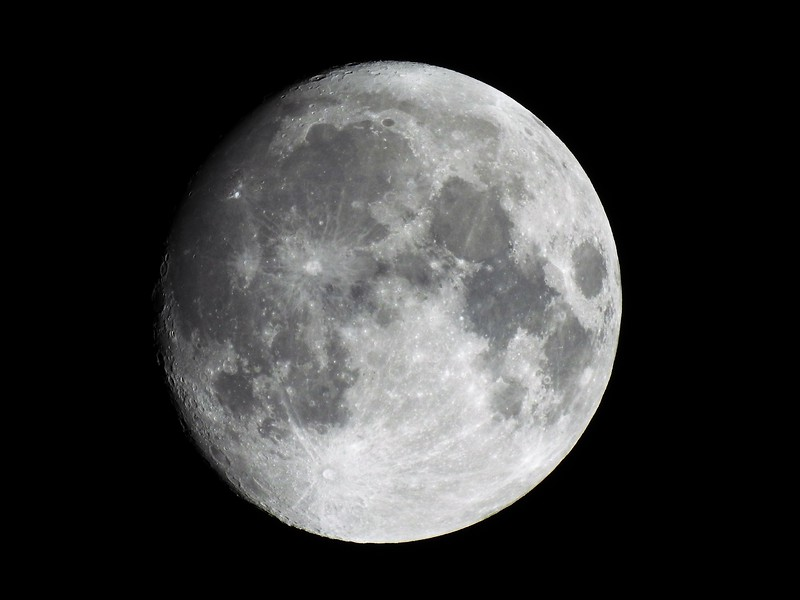 This was taken on Saturday (9/22) as the moon came out a larger that evening.  Just had to take a picture.  I like how it centered it up perfectly in the shot.