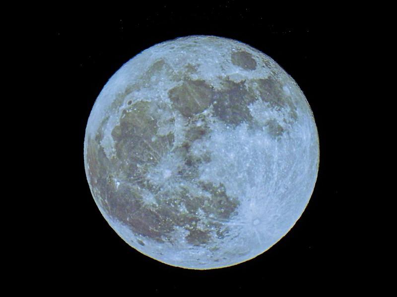 Full Blue Moon on Halloween Night