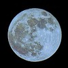 Full Blue Moon on Halloween Night