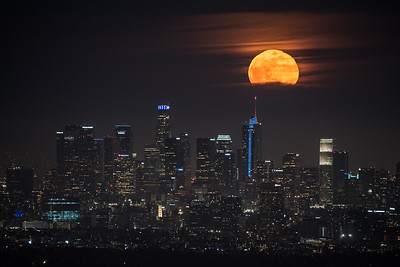 Super Flower moonrise, Los Angeles CA