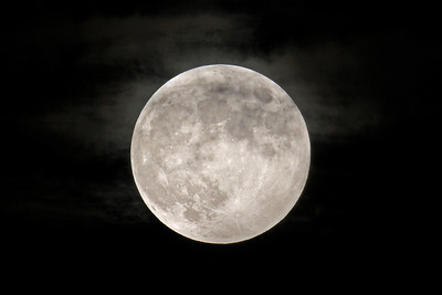 October 18, 2013 - Moon with clouds