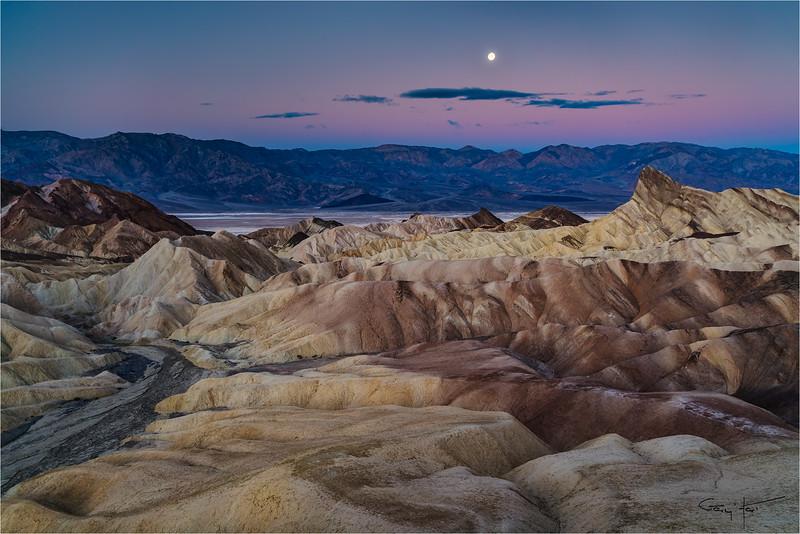 Winter Moon, Zabriskie Point, Death Valley