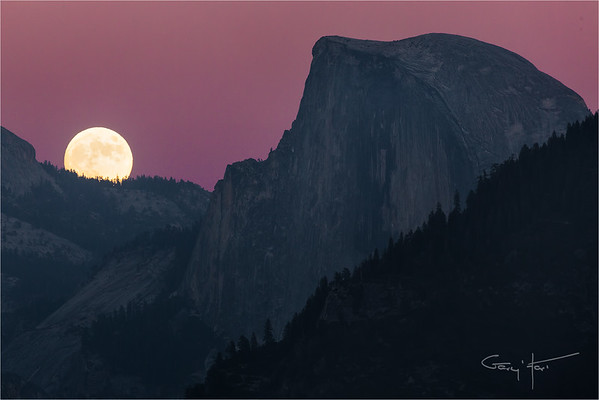 Moon!, Half Dome, Yosemite