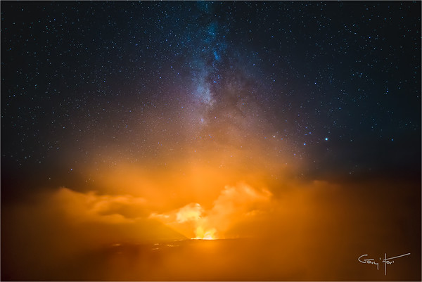 Night Fire, Kilauea Caldera, Hawaii