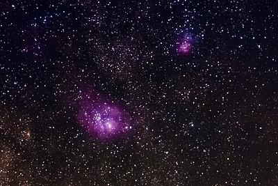 20210909-Lagoon and Trifid Nebula Stack of 41-Giga4x