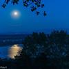 Moon over Lake Morat