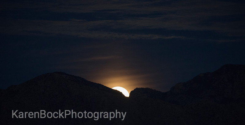 Super Moon rising in the Catalina mountains, Tucson
