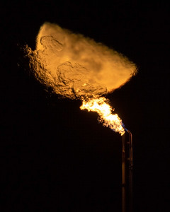 Natural Gas Moonrise