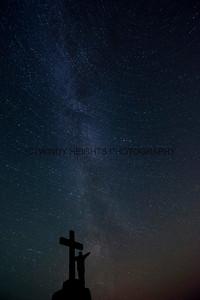 Star TrailCorran Cross Silhouette 1