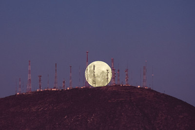 Full Moon Rise in Cerro Grande La Serena