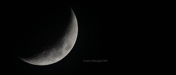 Waxing Crescent Moon February 20, 2018