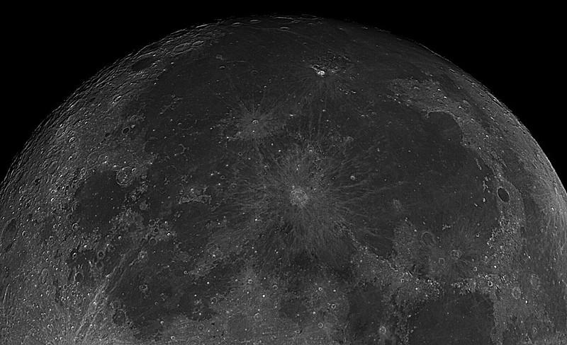 Crators: Copernicus - center, Plato - center right, Grimaldi - top left 4-20-2016