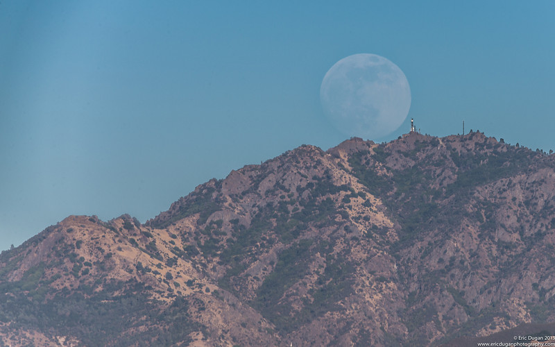 Moon Over Mount Diablo...<br /> 91% full, Super Moon in the making rising over Mount Diablo in Northern California.