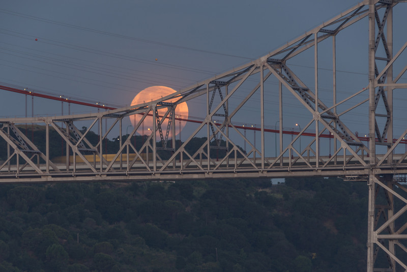 Carquinez Bridge Moonset