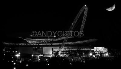 Wembley Moonset