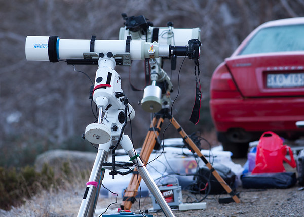 Telescopes setup for Lunar Eclipse, Mt Buffalo, 16th June 2011.