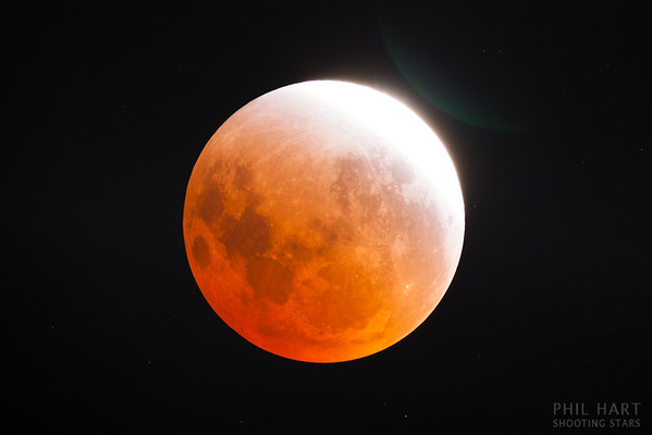 Partial Phase of Lunar Eclipse