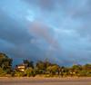 Early Morning Rainbow over Adrift Inn