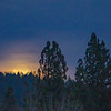 Full Moon Rising Amidst Cloud Cover
