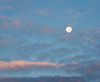 Setting Moon and Clouds, July 2017