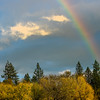 Rainbow over Fall Foliage
