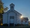 Sierraville Community Church at Sunrise