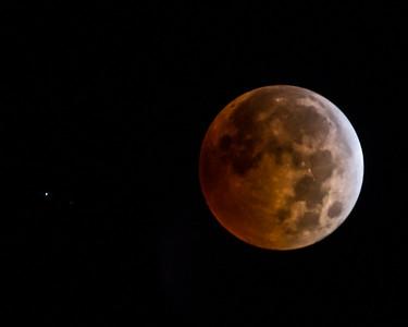 Blood Moon and Uranus