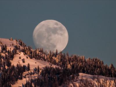 Moon Over Council Mountain