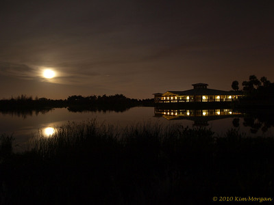 Full moon over Green Cay nature center.