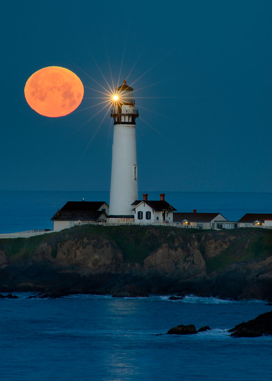 Full Moonset over Pigeon Point