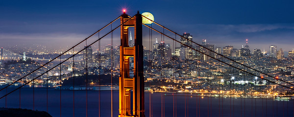 Moonrise Over San Francisco