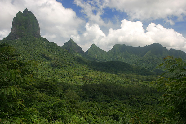 View from the Belvedere lookout on Moorea