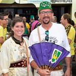 August 14, 2014, la Xaranga Visita a les capitanies during the Moors and Christians (Moros y Cristianos) Festival in Denia, Alicante, Spain