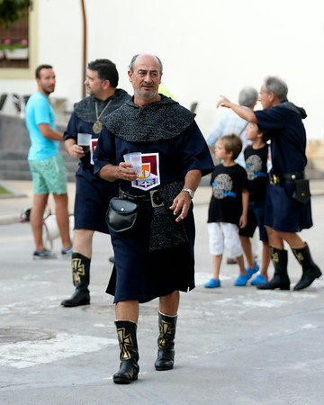 August 1, 2014, The Opening Ceremony for the Moors and Christians Festival in Denia, Alicante, Spain