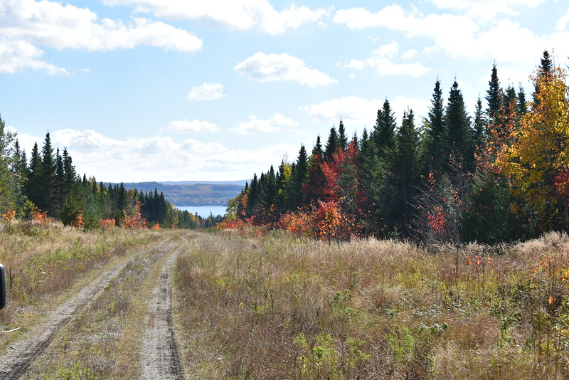 There was no shortage of scenic vistas, including this view of Brassua Lake down a line of colorful fall foliage, as the BDN's John Holyoke and his friends scoured the area for a bull moose during last week's hunt. (Pete Warner | BDN)