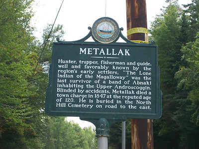 Chief Metallak historical sign
