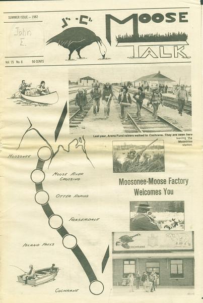Moosetalk 1982 Summer. Page 1.