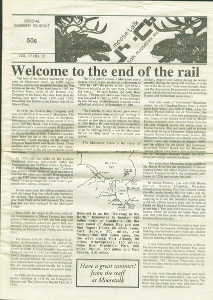 Moosetalk 1993 Summer.