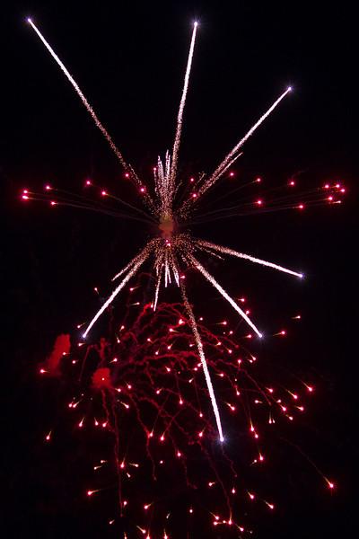 Canada Day Fireworks in Moosonee, Ontario 2011 July 1st.