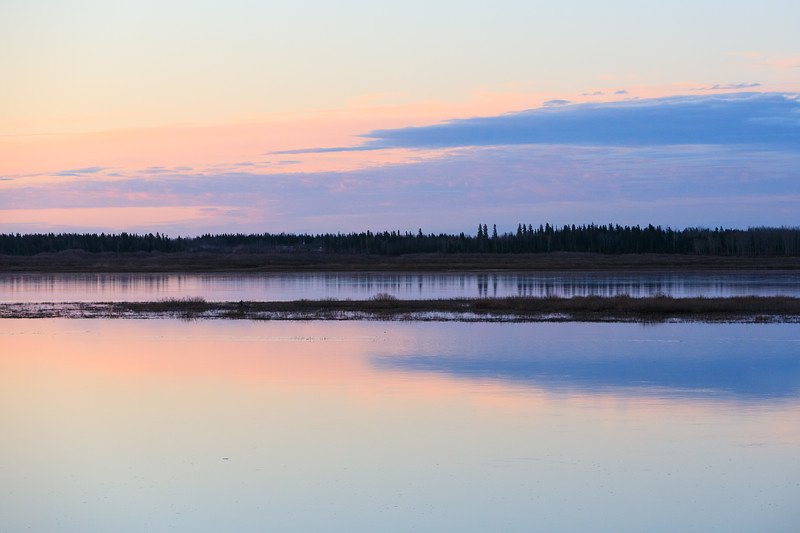 View across the Moose River before sunrise 2017 May 25th.