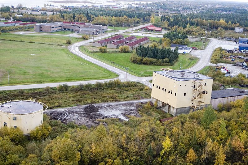 Bases of radomes at former military base in Moosonee, Ontario. This base, last known as Canadian Forces Station Moosonee (CFS Moosonee) was part of the Pinetree Line. Oct 1, 2005