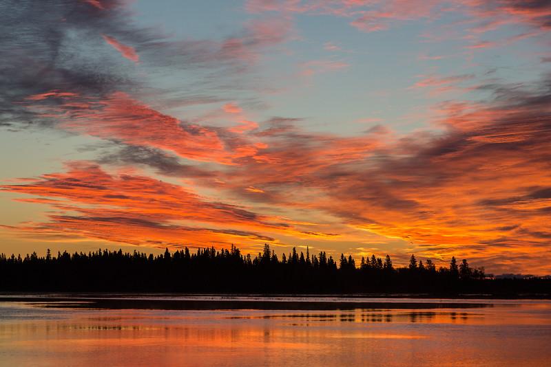 Sky over Butler Island as sunrise approaches 2016 September 22nd.