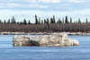 Large chunk of ice in front of Charles Island.