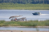 Cessna U206G C-GRVX flipped on sandbar in the Moose River across from Moosonee, Ontario 2009 August 11th