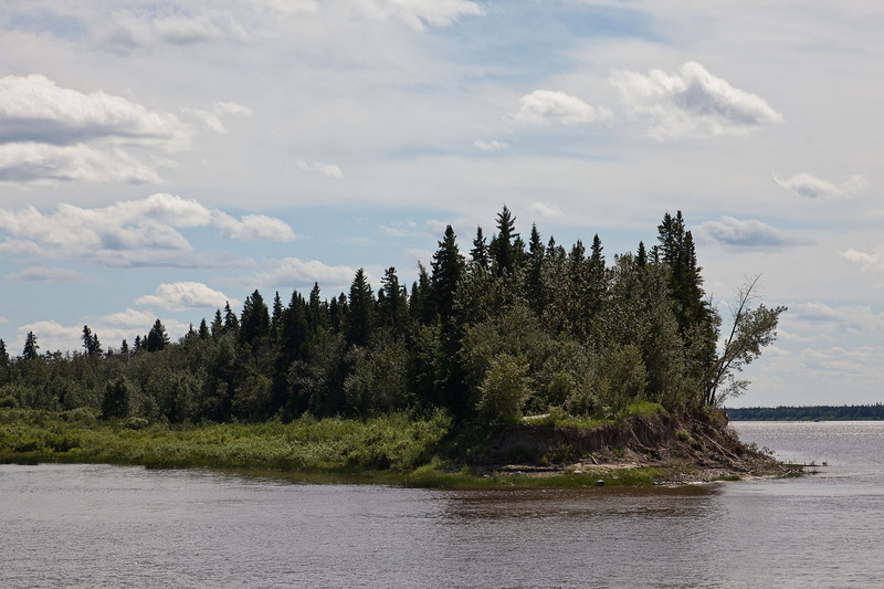Looking upriver from Charles Island